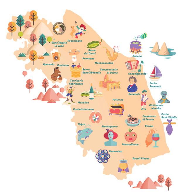 Litorale Marche Cartina.Abc Geografico Le Marche